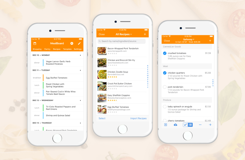 grocery shopping list app