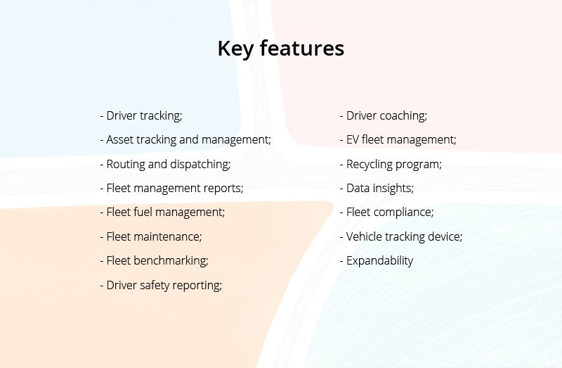 features of a vehicle tracking app