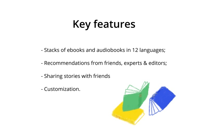 features for mobile reading app