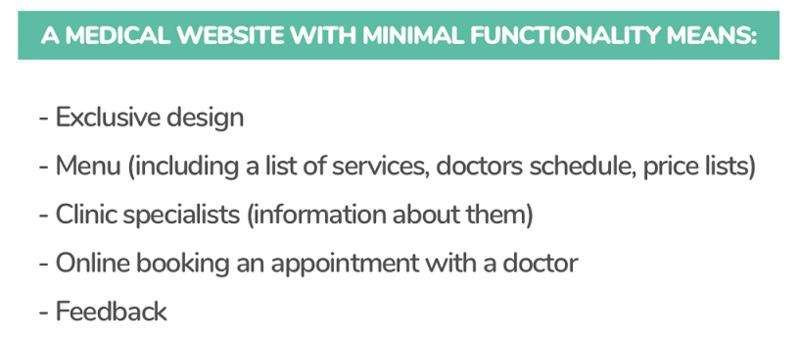 hospital website development
