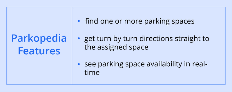 Features of Parking App