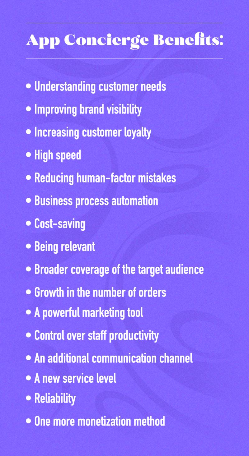 advantages of concierge app development