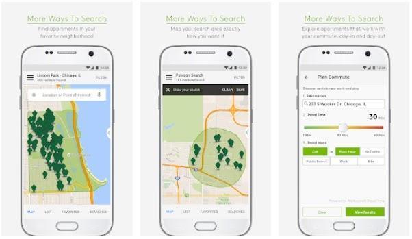 real estate app in mobile device