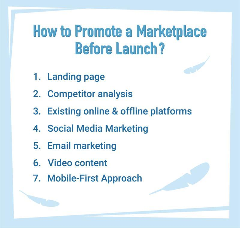 how to promote a marketplace before launch