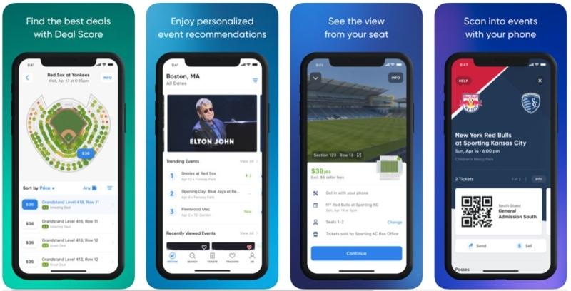 ticket booking app features
