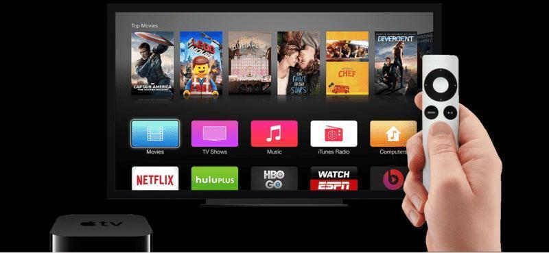 Apple TV running on tvOS