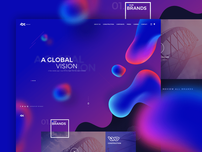 Top Web design trends 2018