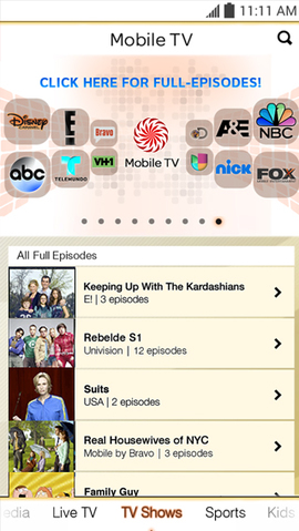 mobile tv android