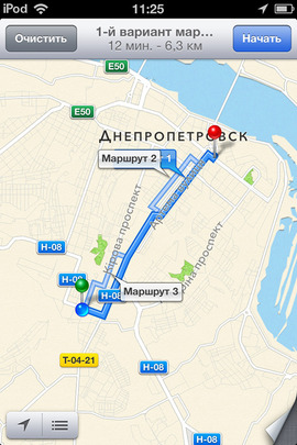 Example of iphone mobile app development for map routing image